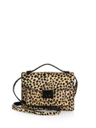 Loeffler Randall Mini Cheetah Print Calf Hair Rider Shoulder Bag