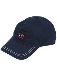 Paul And Shark Embroidered Logo Cap Men Cotton One Size Blue