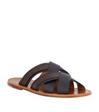 Bottega Veneta Multi Strap Woven Leather Sandal Male