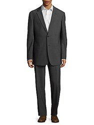 Giorgio Armani Classic Fit Textured Wool Blend Suit Smoke