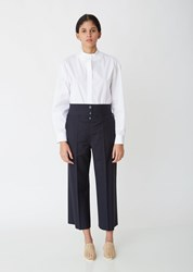 Jil Sander Greg Cropped Trousers Dark Blue