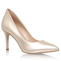 Kg By Kurt Geiger Bella Pointed Toe Stiletto Court Shoes Champagne