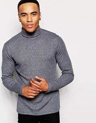 New Look Jersey Roll Neck With Long Sleeves Navy