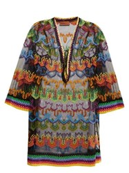 Missoni Mare Embroidered Multicoloured Kaftan Black Multi