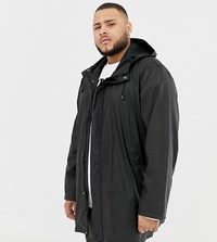 Jacamo Plus Waterproof Lightweight Parka Black