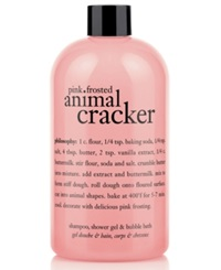 Philosophy Pink Frosted Animal Cracker 3 In 1 Shampoo Shower Gel And Bubble Bath 16 Oz