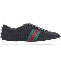 Gucci Bambi Glitter Low Top Trainers Black