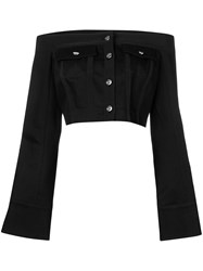 David Koma Off Shoulder Blouse Black