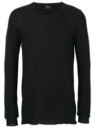 Lost And Found Ria Dunn Classic Knitted Top Men Cotton S Black