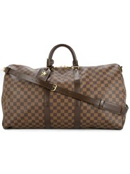 Louis Vuitton Vintage Keepall Bandouliere 55 2Way Bag Brown
