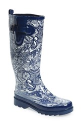 Sakroots Women's 'Rhythm' Waterproof Rain Boot Navy Spirit Desert