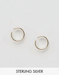 Asos Pack Of 2 Gold Plated Sterling Silver Mid Ear Cuff Earrings Gold