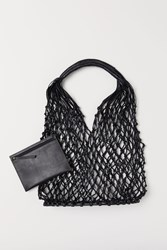 Handm H M Leather Net Bag Black
