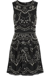 Needle And Thread Embellished Crepe Mini Dress Black
