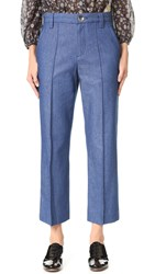 Marc Jacobs Cropped Bowie Pants Blue