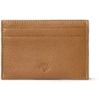 Mulberry Cross Grain Leather Cardholder Brown