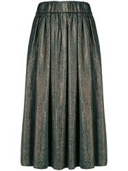 Forte Forte Metallic Midi Skirt Green