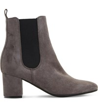 Dune Ola Suede Chelsea Boots Grey Suede