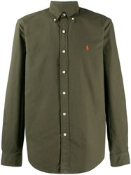 Ralph Lauren Embroidered Logo Shirt Green