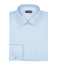 Tom Ford Fine Herringbone Shirt Male Light Blue