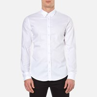 Boss Orange Men's Edipoe Plain Long Sleeve Shirt White