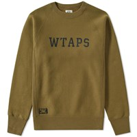 Wtaps Design 01 Crew Sweat Green