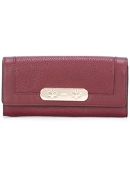 Coach Flap Closure Wallet Red