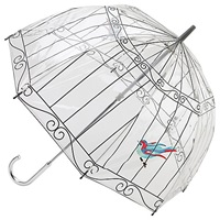 Lulu Guinness Birdcage Umbrella Clear