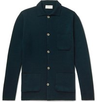 John Smedley Copper Slim Fit Merino Wool Cardigan Dark Green