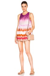 Missoni Mare Romper In Purple White Ombre And Tie Dye