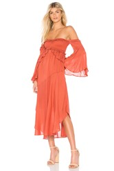 Spell And The Gypsy Collective Florence Midi Dress Rust