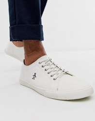 Original Penguin Lace Up Plimsolls In White