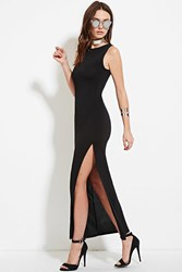 Forever 21 High Slit Maxi Dress Black