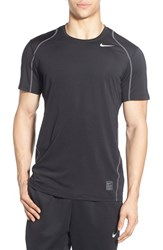 Nike Men's 'Pro Cool Compression' Fitted Dri Fit T Shirt Black White