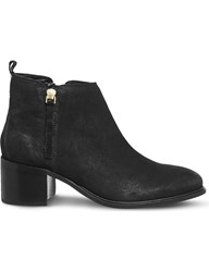 Office Algebra Leather Ankle Boots Black Leather