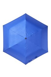 Steve Madden Solid Snakeskin Folding Umbrella Blue