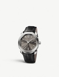Bulgari Octo Roma Stainless Steel And Alligator Leather Watch