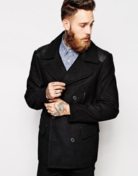 Asos Wool Peacoat Black