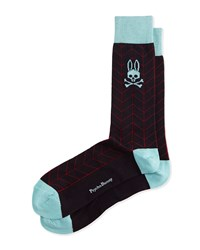 Matrix Chevron Socks Navy Navy Psycho Bunny