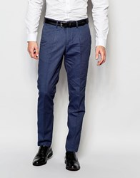 Selected Homme Slim Casual Lightweight Suit Pants With Waistband Blue