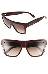 Women's Mcm 55Mm Studded Navigator Sunglasses Burgundy