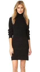 525 America Cotton Shaker Sweater Dress Black