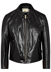 Schott Nyc 689 Racer Black Leather Jacket