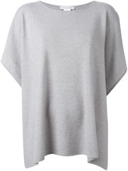 Fabiana Filippi Shortsleeved Poncho Grey