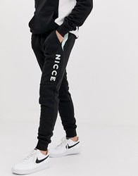 Nicce London Joggers With Side Detail In Black