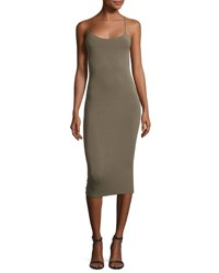 Alexander Wang Strappy Camisole Midi Dress Forest