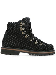 Peter Non Arctic Mountain Boots Women Calf Leather Nappa Leather Suede Rubber 37 Black
