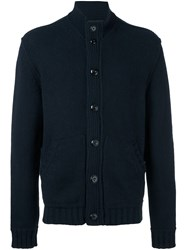 Ermenegildo Zegna Button Up Cardigan Blue