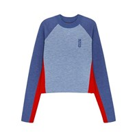 Lndr Snug Cropped Merino Wool Jumper Blue
