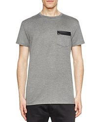 Sovereign Code Guide Leather Trim Pocket Tee Charcoal
